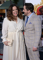 Melissa McCarthy + Ben Falcone @ the premiere of 'The Boss' held @ the Regency Village theatre.<br /> March 28, 2016