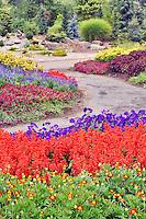 Path and flowers through Oregon Gardens.