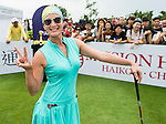 Contestants practice during the Mission Hills Celebrity Pro-Am on 24 October 2014, in Haikou, China. Photo by Aitor Alcalde / Power Sport Images
