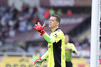 TORINO ITALY- October 2 <br /> Stadio Olimpico Grande Torino<br /> Wojciech Szczesny in action <br /> during the Serie A match between Fc  Torino and Juventus Fc at Stadio Olimpico on October 2, 2021 in Torino, Italy.