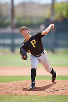Pittsburgh Pirates pitcher Jacob Brentz (2) delivers a pitch during a minor league Spring Training game against the Philadelphia Phillies on March 24, 2017 at Carpenter Complex in Clearwater, Florida.  (Mike Janes/Four Seam Images)