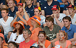 The Hague, Netherlands, June 06: Dutch and german fans look on during the field hockey group match (Men - Group B) between Germany and The Netherlands on June 6, 2014 during the World Cup 2014 at Kyocera Stadium in The Hague, Netherlands. Final score 0-1 (0-1) (Photo by Dirk Markgraf / www.265-images.com) *** Local caption ***
