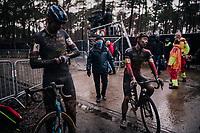 Laurens Sweecks (BEL/Pauwels Sauzen-Bingoal) post race fatigue<br /> <br /> Men's Race at the X2O Herentals Cross 2020 (BEL)<br /> <br /> ©kramon