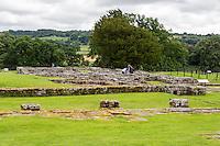Northumberland, England, UK.  Chesters (Cilurnum) Roman Fort, Commander's House.