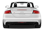 Straight rear view of a 2010 - 2014 Audi TT RS Convertible.