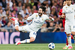 Isco Alarcon of Real Madrid get tripped during their 2016-17 UEFA Champions League Quarter-finals second leg match between Real Madrid and FC Bayern Munich at the Estadio Santiago Bernabeu on 18 April 2017 in Madrid, Spain. Photo by Diego Gonzalez Souto / Power Sport Images