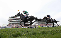 Pat Smullen celebrates after riding Harzand to victory in the 4.30 Investec Derby <br /> Ippica Investec Derby meeting taking place at Epsom Downs Racecourse -  06/04/2016 <br /> Foto Matthew Childs / Action Images / Panoramic