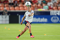 HOUSTON, TX - JUNE 13: Carli Lloyd #10 of the United States warming up before a game between Jamaica and USWNT at BBVA Stadium on June 13, 2021 in Houston, Texas.