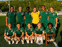 St Louis Athletica players pose for a picture before their WPS match against FC Gold Pride at Korte Stadium, in St. Louis, MO, May 9 2009.  St. Louis won the match 1-0.