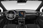 Stock photo of straight dashboard view of 2021 Volvo XC40 R-Design 5 Door SUV Dashboard