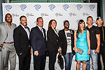 Darren Woodson, David Otunga, John McKay, Carole Hart, Anthony Williams, Kellie Martin, Ray Molinere and Jay Paul Molinere at the Time Warner Media Cabletime Upfront media event held at the Private Social Restaurant  in Dallas, Texas.