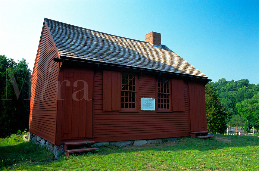 The Nathan Hale Schoolhouse. Connecticut.