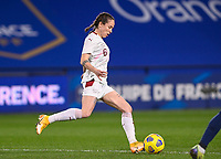 Swiss Geraldine  Reuteler (6) pictured in action during the Womens International Friendly game between France and Switzerland at Stade Saint-Symphorien in Longeville-lès-Metz, France.