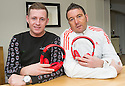 Fraser Ogilvie, Vale of Leithen, (left) and former Hearts player Kevin Twaddle who hosted a radio phone-in which has been axed.