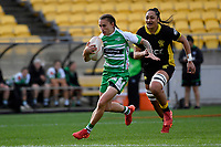 Selica Winiata of the Manawatu makes a break during the Farah Palmer Cup Rugby – Wellington v Manawatu at Sky Stadium, Wellington, New Zealand on Friday 25 September 2020. <br /> Photo by Masanori Udagawa. <br /> www.photowellington.photoshelter.com