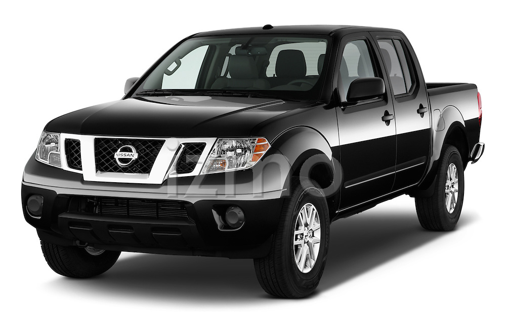 2016 Nissan Frontier SV 4 Door Pick-up Angular Front stock photos of front three quarter view