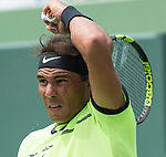 April 2 2017: Rafael Nadal (ESP) loses to Roger Federer (SUI) 3-6, 4-6, at the Miami Open being played at Crandon Park Tennis Center in Miami, Key Biscayne, Florida. ©Karla Kinne/tennisclix/EQ