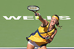 Victoria Azarenka (BLR) was defeated by Paula Badosa (ESP) 6-7 (5-7), 6-2, 6-7 (2-7), at the BNP Paribas Open being played at Indian Wells Tennis Garden in Indian Wells, California on October 17,2021: ©Karla Kinne/Tennisclix/CSM