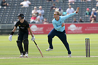 Simon Harmer in bowling action for Essex during Gloucestershire vs Essex Eagles, Royal London One-Day Cup Cricket at the Bristol County Ground on 3rd August 2021