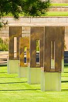 Oklahoma City, Oklahoma, USA.  OKC National Memorial, Empty Chairs.