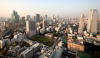 New Tokyo buildings as seen from Tokyo Tower