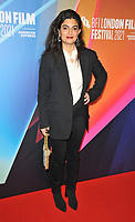 """Mounia Akl at the 65th BFI London Film Festival """"Costa Brava, Lebanon"""" UK premiere, BFI Southbank, Belvedere Road, on Saturday 09th October 2021, in London, England, UK. <br /> CAP/CAN<br /> ©CAN/Capital Pictures"""