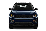 Car photography straight front view of a 2021 JEEP Compass S 5 Door SUV Front View
