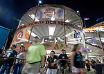 Fans stream into Sun Life Stadium prior to the start of the BCS National Championship football game in Miami on January 7, 2013. <br /> Credit: Mark Wallheiser for UPI Newsphotos ©2013 Mark Wallheiser