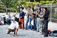Capoeira in the street of Athens, Greece