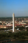 Washington Monument aerial view in summer Tidal Basin Washington DC, Tidal Basin Washington DC, spring, cherry blossoms, Washington Monument, US Capital, United States Capitol with flags, US flags, Lincoln memorial and Washington monument with spring cherry blossoms on Tidal Basin Washington DC, Washington Monument Washington DC, District, DC, capitol, Potomac River, Washington Metropolitan, metropolitan area, federal district, federal government of USA, US Congress, White House, National Mall, Politics in the United States, Presidential, Federal Republic, United States Congress, powers, Judicial Power, House of Representatives, US Senate, Constitution, federal law, Democratic Party, Republican party, two party system, Washington D.C. fine art photography by Ron Bennett, Washington, D.C. fine art photography by Ron Bennett (c). Copyright Fine Art Photography by Ron Bennett, Fine Art, Fine Art photo, Art Photography,