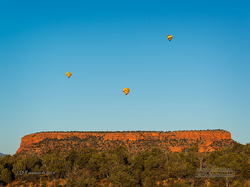 Balloons over Doe Mountain, from Mescal Trail