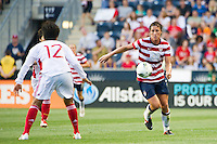 Abby Wambach (20) of the United States (USA). The United States (USA) women defeated China PR (CHN) 4-1 during an international friendly at PPL Park in Chester, PA, on May 27, 2012.