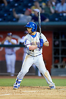 Christian Donahue (5) of the South Bend Cubs at bat against the Lansing Lugnuts at Cooley Law School Stadium on June 15, 2018 in Lansing, Michigan. The Lugnuts defeated the Cubs 6-4.  (Brian Westerholt/Four Seam Images)