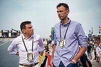 Golazo Managing Director Christophe Impens & Flanders Classics CEO Tomas Van Den Spiegel together forming the managing duo behind Flanders2021 <br /> <br /> Men Elite Individual Time Trial <br /> from Knokke-Heist to Bruges (43.3 km)<br /> <br /> UCI Road World Championships - Flanders Belgium 2021<br /> <br /> ©kramon