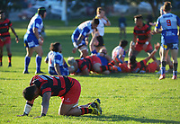 Action from the Wellington Swindale Shield premier men's club rugby match between Poneke and Northern United at Kilbirnie Park in Wellington, New Zealand on Saturday, 15 May 2021. Photo: Dave Lintott / lintottphoto.co.nz