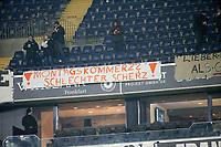 19.02.2018, Commerzbank - Arena, Frankfurt, GER, 1.FBL, Eintracht Frankfurt vs RB Leipzig , <br />Banner and Plakate Eintracht Frankfurt Fans  -  Mondaysspiele *** Local Caption *** © pixathlon<br /> Contact: +49-40-22 63 02 60 , info@pixathlon.de
