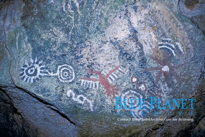 Arawak Indian inscriptions, Guadirikir Caves, Aruba, Netherlands Antilles (Dutch Caribbean or Dutch ABC Islands), Atlantic