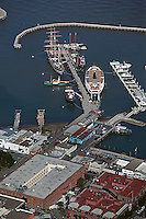 aerial photograph Hyde Street Pier Fisherman's Wharf San Francisco