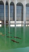 la sede della Mondadori a Segrate, Milano, dell'architetto Oscar Niemeyer