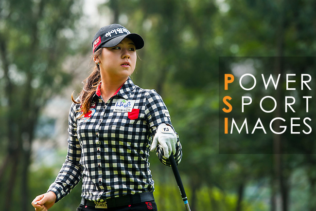 Yea-Lin Kang of Korea looks on during the Hyundai China Ladies Open 2014 on December 10 2014 at Mission Hills Shenzhen, in Shenzhen, China. Photo by Xaume Olleros / Power Sport Images
