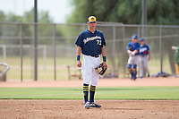 Milwaukee Brewers third baseman Chad McClanahan (72) during an Instructional League game against the Los Angeles Dodgers at Maryvale Baseball Park on September 24, 2018 in Phoenix, Arizona. (Zachary Lucy/Four Seam Images)