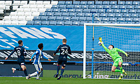 20th February 2021; The John Smiths Stadium, Huddersfield, Yorkshire, England; English Football League Championship Football, Huddersfield Town versus Swansea City; Duane Holmes of Huddersfield Town makes it 3-1 to Huddersfield in the 52nd minute