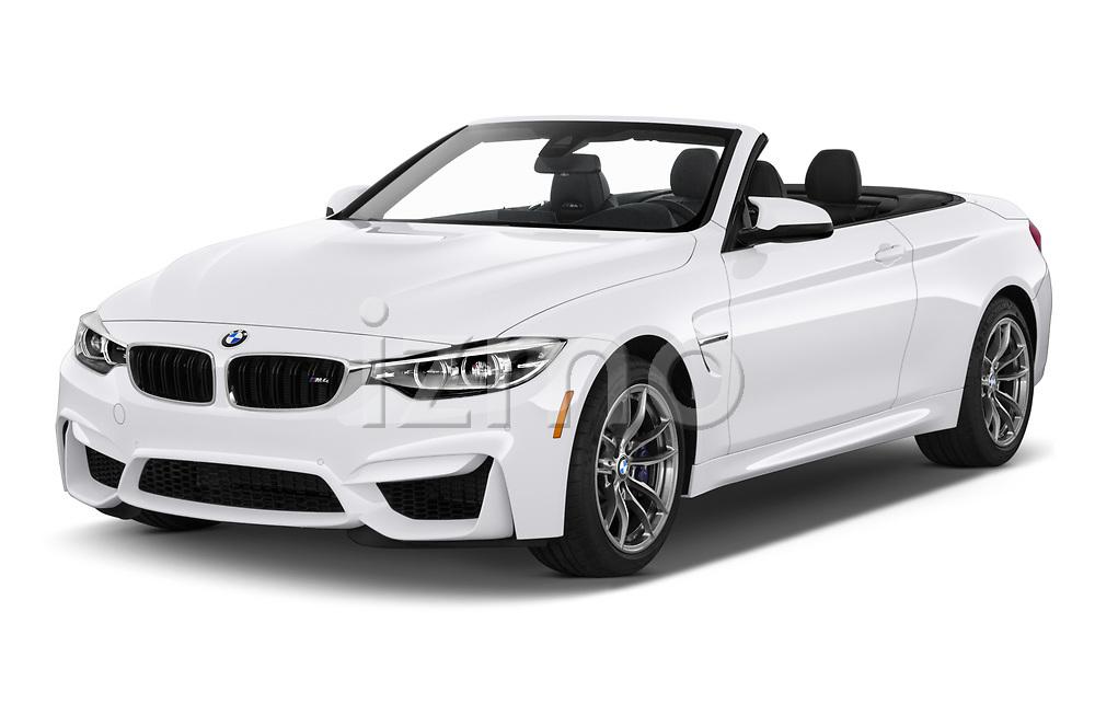 2020 BMW M4 Base 2 Door Convertible angular front stock photos of front three quarter view