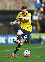John Lundstram of Oxford United   during the Emirates FA Cup 3rd Round between Oxford United v Swansea     played at Kassam Stadium  on 10th January 2016 in Oxford