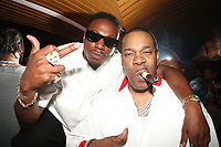 NEW YORK, NY- SEPTEMBER 12: Joey Badass and Busta Rhymes pictured at Swizz Beatz Surprise Birthday Party at Little Sister in New York City on September 12, 2021. Credit: Walik Goshorn/MediaPunch