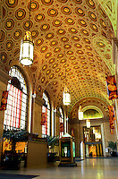 Cleveland, OH, Ohio, Interior of Terminal Tower, a renovated train terminal, Union Station