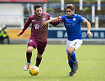 Queen of the South v St Johnstone…18.08.18…  Palmerston    BetFred Cup<br />Drey Wright fends off Andrew Stirling<br />Picture by Graeme Hart. <br />Copyright Perthshire Picture Agency<br />Tel: 01738 623350  Mobile: 07990 594431