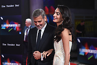 LONDON, ENGLAND - OCTOBER 10: George Clooney and Amal Clooney attending 'The Tender Bar' Premiere - the 65th BFI London Film Festival at The Royal Festival Hall on October 10, 2021, London, England.<br /> CAP/MAR<br /> ©MAR/Capital Pictures