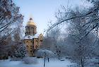 Main Quad in winter..Photo by Matt Cashore/University of Notre Dame