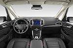 Stock photo of straight dashboard view of 2021 Ford Galaxy Titanium 5 Door Minivan Dashboard